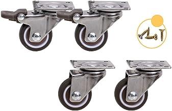 Wielen (4 stuks) 1 inch 1,25 inch universeel wiel met remwiel dempen slijtvast meubelbeslag directioneel