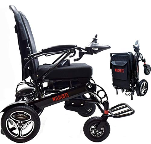Rubicon Premium Lightweight Electric Wheelchairs. All Terrain,Dual Power Motors, Foldable, Travel Power Wheelchair for Adults. Silla de Ruedas Electrica. (Premium - Heavy Duty)