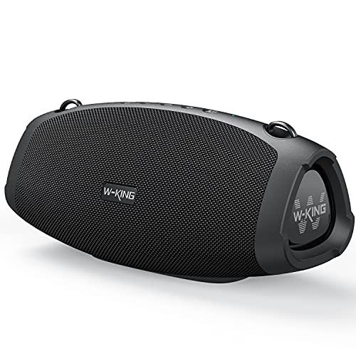 W-KING 70W Bluetooth-Lautsprecher mit Super-Bass, Schnellladung, Bluetooth 5.0, 15000-mAh-Akku, IPX6 wasserdicht, lautes kristallklares Audio, TWS, Mikrofon für Outdoor, Party, Camping, Zuhause