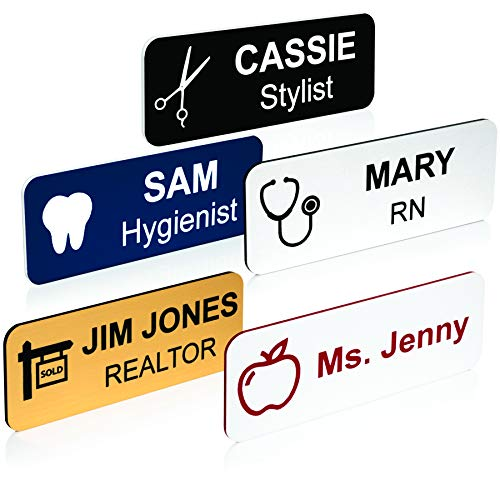 Custom Name Tag with Industry Logo - Teacher, Realtor, Dental, Medical, Stylist ID Badge