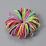 SELLM Nuevo 100pcs / Lot Accesorios para el Cabello Chica Color Caramelo Banda de Goma elástica Banda para el Cabello Diadema para ni?os Scrunchie Accesorios para el Cabello, Estilo-8