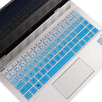 Keyboard Cover for 2021 2020 HP 14  Laptop 14t 14z 14-cf 14-dk 14-dq 14-fq Series 14-cf0006dx/cf0012dx 14-dk0002dx 14-dq0011dx/dq1037wm/dq1089wm HP Laptop 14  240 246 340 US Keyboard Cover - GBlue