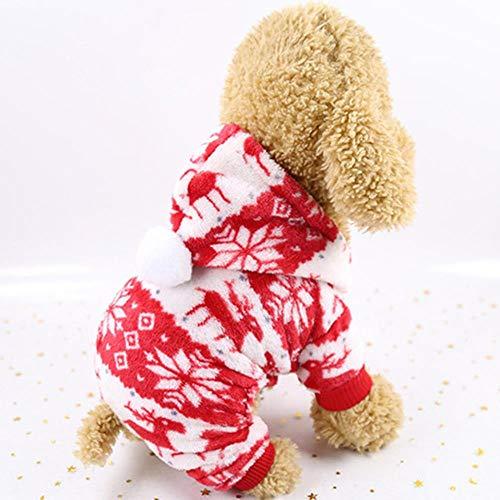 PONNMQ Vêtements en Peluche Chaud pour Animaux de Compagnie pour Petits Chiens Chats Manteau en Molleton Doux pour Chien Manteau Veste Vêtements de Chiot Tenue Chihuahua Pug Bulldog Costume, 11, XS