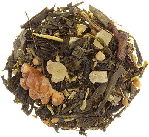 AURESA Grüner Tee Walnuss | Milder Sencha mit Walnüssen verfeinert | Ein perfekter Tee für trübe Herbsttage
