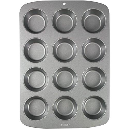 PME CSB110 Moule Anti-adhérent en Acier au Carbone pour 12 Muffins, Inoxydable, Silver, 37,3 x 26,1 x 3,1 cm
