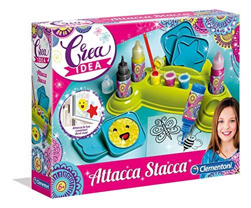 Clementoni- Crea Idea-Gli Attacca Stacca Gioco, Multicolore, 18502
