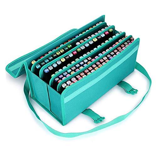 Marker Stiftetui 168 Slots-Markierungs-Feder-große Kapazitäts-Lippenstift-Kasten-Halter-Beutel-Organisator mit Trage for flüssigen Highlighter Marker Pen Case Halter