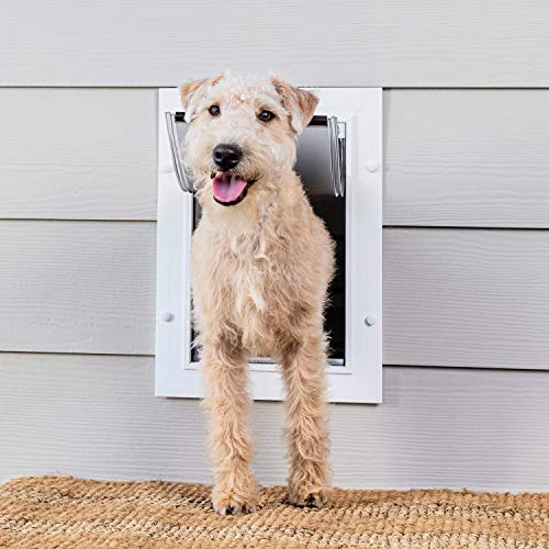 PetSafe Wall Entry Pet Door – Best for Small, Medium and Large Size Pets – DIY Installation – Includes Telescoping Tunnel for Interior and Exterior Wall Installation – Size Medium