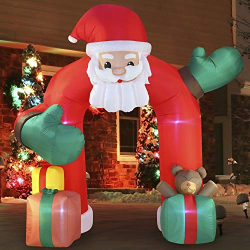Joiedomi 11 FT Tall with Gift Boxes Archway with Build-in LEDs Blow Up Inflatables for Christmas Party Indoor, Outdoor, Yard, Garden, Lawn Décor Decorations