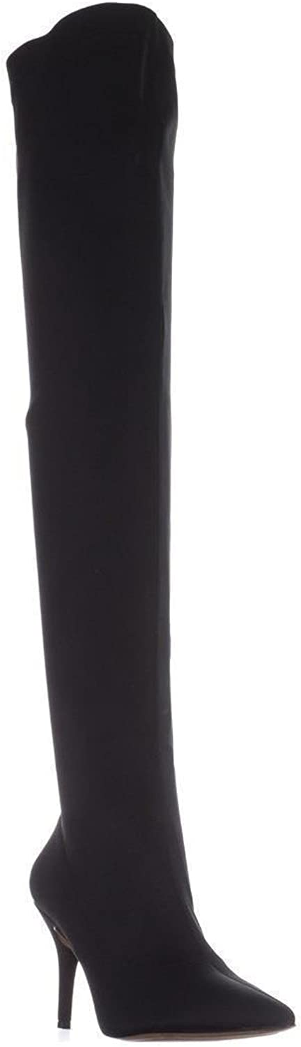 INC International Concepts I35 Zaliaa Pull-On Over-The-Knee Boots, Black
