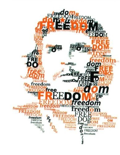 Multi Color Che Guevara Country National Flag Temporary Tattoos Water Transfer Biker Party Favor Tattoo (Freedom)