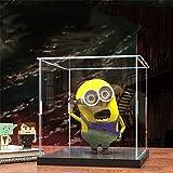 JERPOZ Vitrina De Museo, La Cubierta Protectora 5 Caras del Cubo De Acrílico 33cm X 25cm X 25cm Caja de acrílico