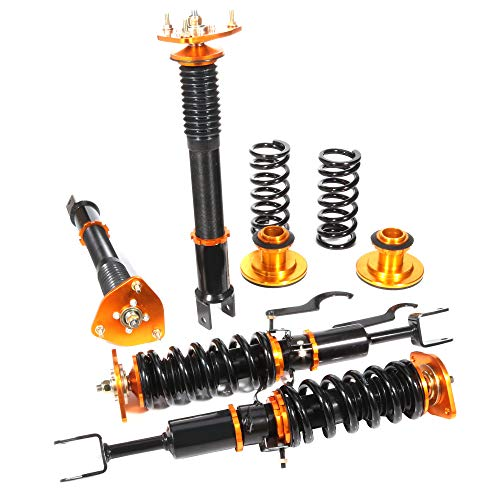 Scitoo Coilover Suspensions Shock Struts Kits Assembly Full Set Shocks Struts Kits fit 2003-2008 I-nfiniti G35(Only Coupe Model)/2003-2009 N-issan 350Z