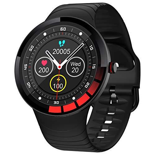 HQPCAHL Smartwatch,Relojes Inteligentes Mujer Hombre,Deporte Reloj De Fitness con Impermeable IP68,Actividad Monitores De Datos Físicos/Ciclo Menstrual Femenino,Compatible con Android iOS,Negro