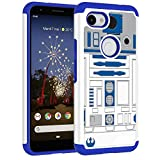 Sunshine - Tech Google Pixel 3a Case - R2D2 Droid Robot Pattern Shock-Absorption Hard PC and Inner Silicone Hybrid Dual Layer Armor Defender Protective Case Cover for Google Pixel 3a (2019)