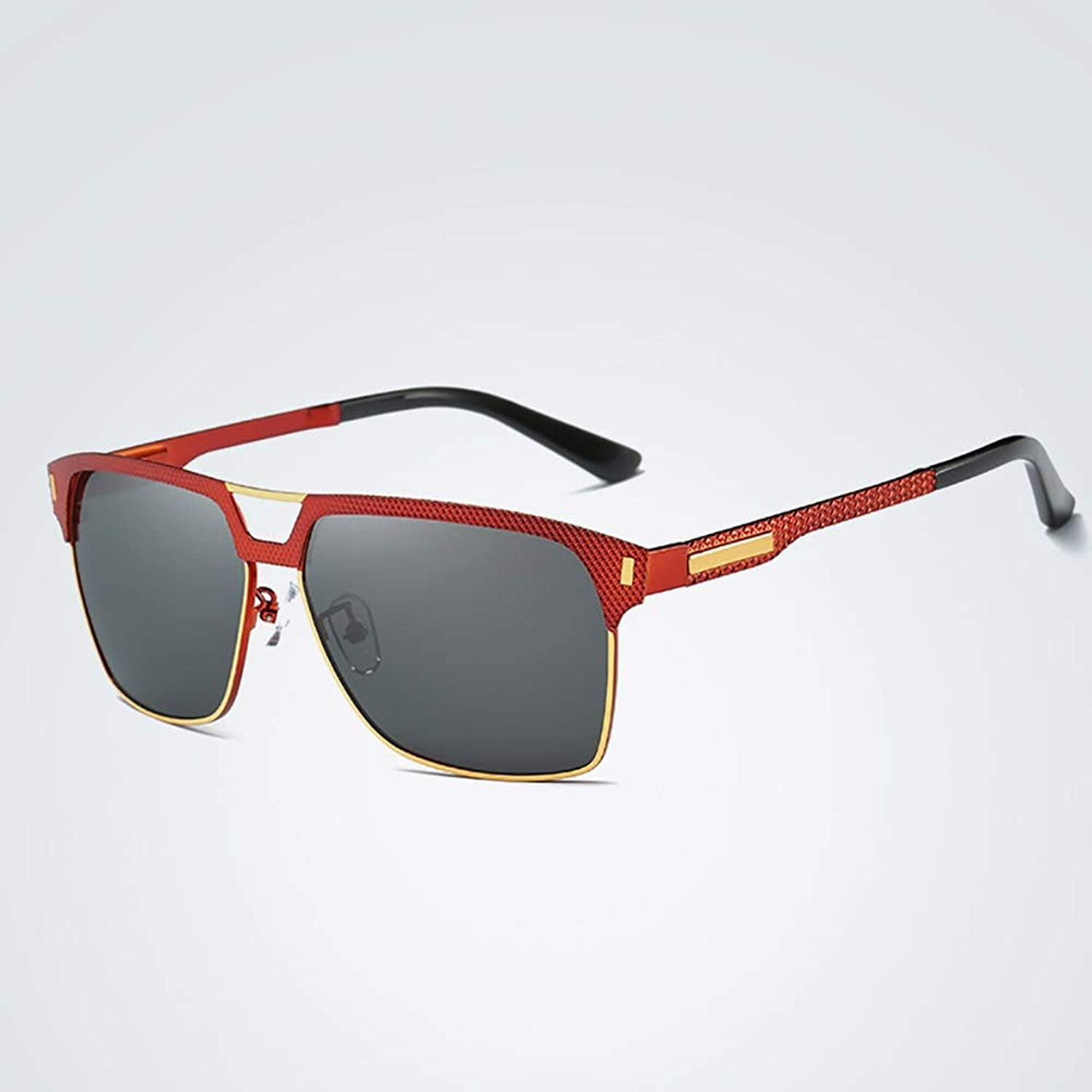 Classic Fishing Driving Polarized Sunglasses, Spring Legs for Men Women. (color   Red Frame)