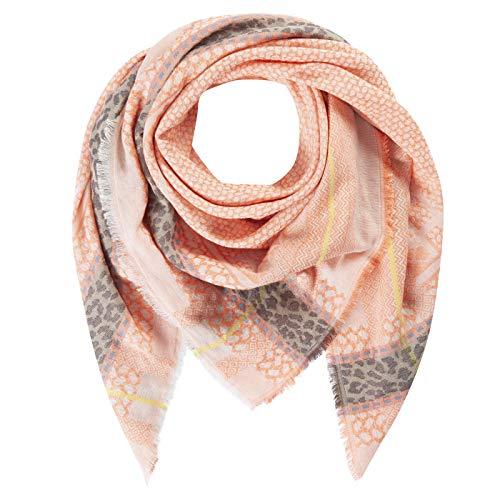 CODELLO Damen Tuch, Halstuch, Feine Fransen | Jacquard | 75% Baumwolle, 25% Polyester | 120 x 120 cm