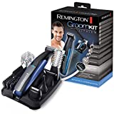 Remington GroomKit Lithium PG6160, Stylingset für Gesichts- und Körperhaare, 5 abnehmbare...