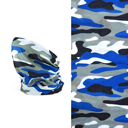Passe-montagne léger Fancy Dress VIP - Motifs colorés, camouflage bleu