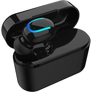 1 Pcs True Wireless Bluetooth V5.0 Earbud, Sport Sweatproof Mini Headphone with Portable Charging Case In Ear Headset Hands Free Car Earpiece with