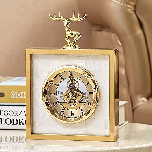 SERBHN Modernes Minimalistisches Wohnzimmer Europäischer Hochwertiger Hochwertiger Metall Silberner Kreativer Uhr Tischuhr