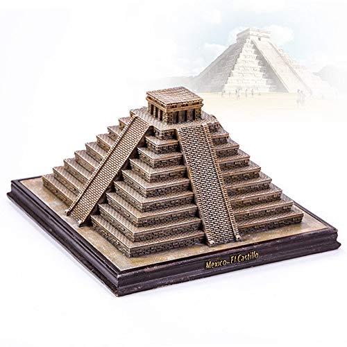 ZHHID Architekturmodell, Skulptur/Statue Wohnkultur, Pyramide, Maya, Kleine Vorbildliche Statue-Miniatur, Erinnerungsgeschenk, Home Decor Resin