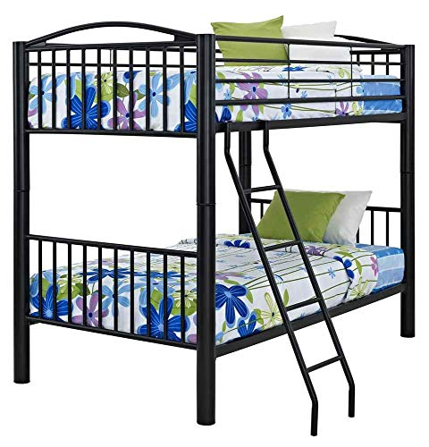 Powell Heavy Metal Bunk Bed, Twin-Over-Twin, Black