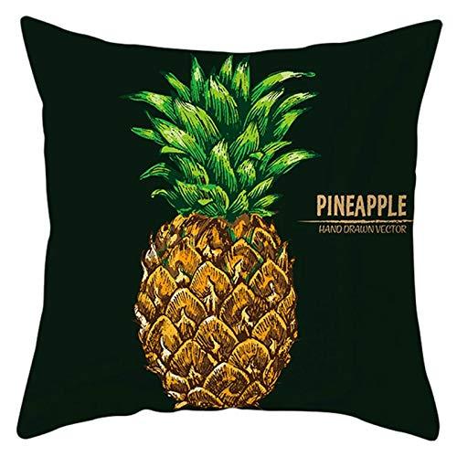 Amody Copricuscini Divano Moderni, Caso Cuscino Cuscino 45x45cm Pineapple Fodere Cuscini per Divani Letto Sedie Giardino Nero Giallo Stile 7