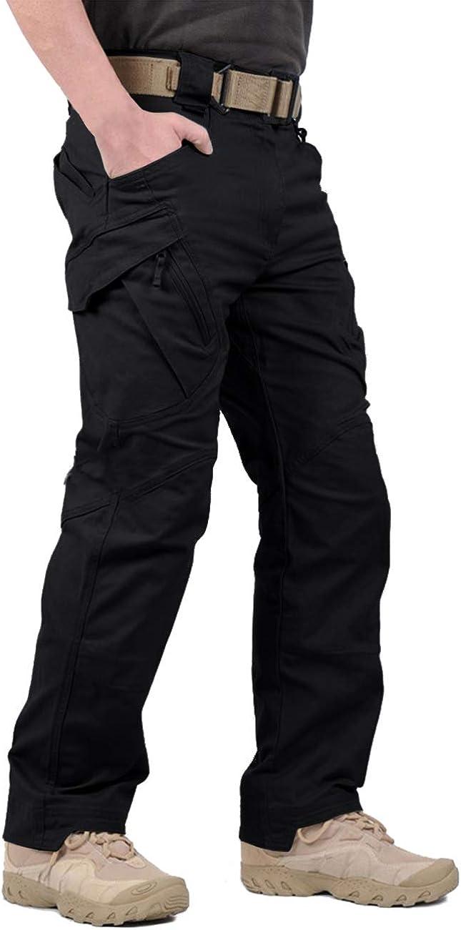 LABEYZON Men's Outdoor Work Military Tactical Pants Lightweight Rip-Stop Casual Cargo Pants Men