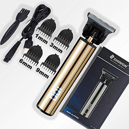 XTR 2020 USB Haarschneider Maschine Haarschneidemäher Friseur Trimmer Bartschneider Für Männer Haarschneider Haarschnitt Styling Tool, Gold-LCD-Box