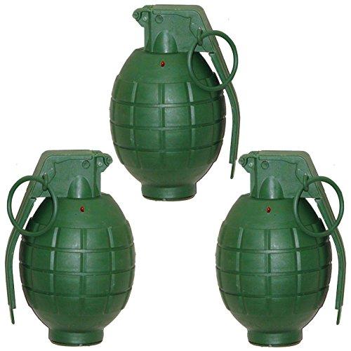3 Handgranaten mit Licht und Sound Handgranate für Kostüme Gangster GSG 9 Special Force