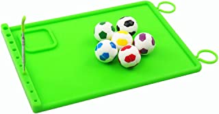 YHSWE FULL SQUARE SET 1 Carving Tool + 1 Non-slip Rectangle Green Mat + 6 Non-stick Wax Football Container