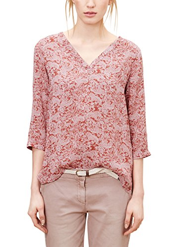 s.Oliver Damen 04.899.19.2766 Bluse, Rot (Rusty red AOP 38B2), 36