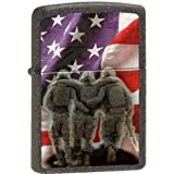 Zippo US Flag 3 Soldiers No One Left Behind Army Marines Lighter New Custom Lighter