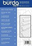 Burda Z001793 Burdastyle Seidenpapier mit Zentimeterraster, blau, Einheitsgröße