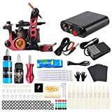 HAWINK Tattoo Complete Starter Tattoo Kit 1 Pro Machine Guns 7 Inks Power Supply Foot Pedal Needles Grips Tips TK-HW1002