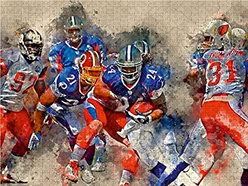 WLJWFF Puzzle American Football 500 Teile Lege-Gr ouml szlig;