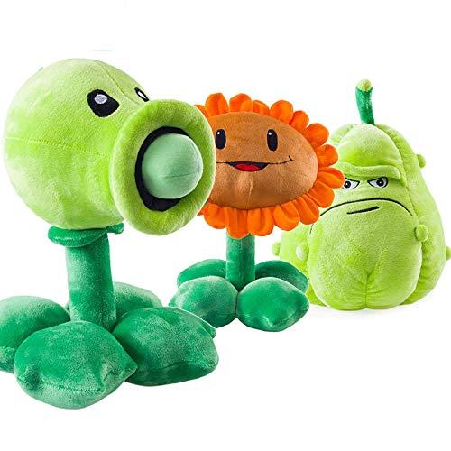 ZJSXIA 3 Teile/los 30 cm Pflanzen vs Zombies plüsch Spielzeug PVZ Pflanzen Blick Shooter Sonnenblume Squash weiche gefüllte Spielzeug Puppe für Kinder Kinder Geschenke Plants vs. Zombies