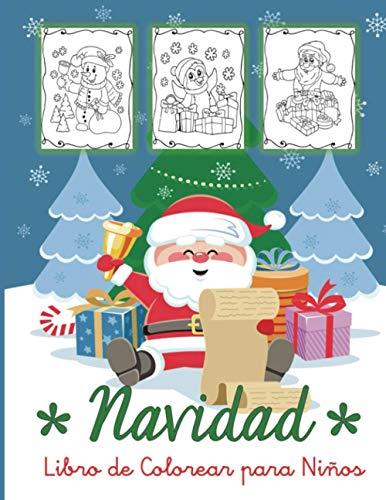 Navidad: Libro de Colorear para Niños: 30 Bonitos Dibujos Navideños para Colorear