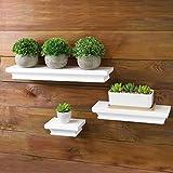 3 estantes flotantes blancos | Conjunto de 3 estantes de pared | Accesorios de...