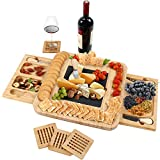 Grandma Shark Cheese Platter Set, Fruit Food Board Set, Suitable use for picnics and Parties (Square)