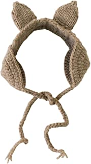 YiyiLai Knit Cartoon Ear Earflap Headband Winter Adjustable Hair Accessory for Baby Khaki