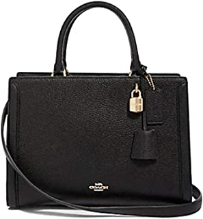Coach Zoe Carryall F88037 Black In Refined Pebble Leather