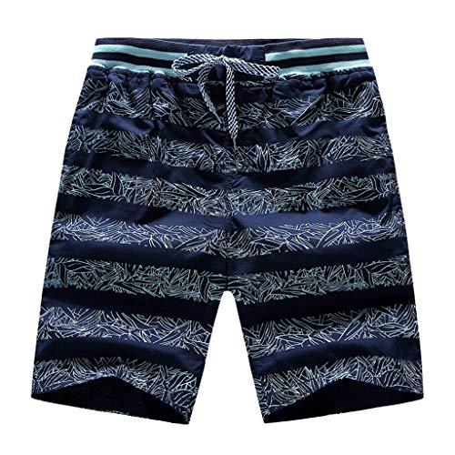 Xniral Herren Sommer Shorts Badeshorts Bequeme und Atmungsaktive Bedruckte Strandshorts Schnelles Trockenes Strandsurfen mit Kurzer Hose(c-Marine,5XL)