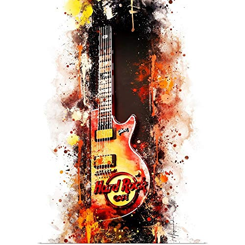 GREATBIGCANVAS Poster Print NYC Watercolor Collection - Hard Rock Cafe by Philippe Hugonnard 24'x36'