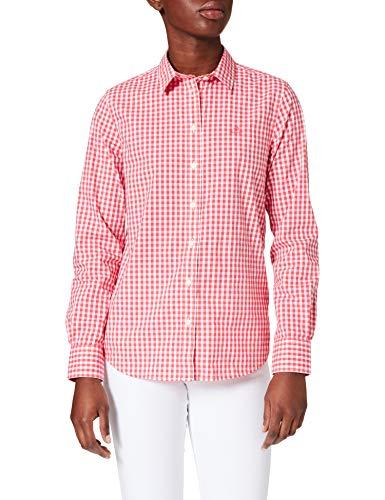GANT Damen Broadcloth Gingham Shirt Bluse, Watermelon RED, 44