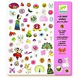 DJECO-GlobosPegatinasDJECO1000 Pegatinas para Chicas, Multicolor (1000)