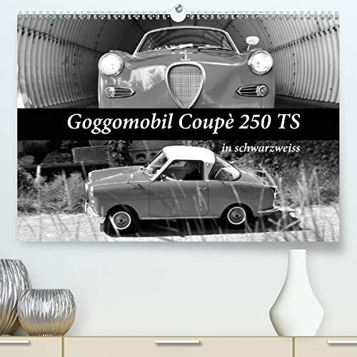 Goggomobil Coupè 250 TS in schwarzweiss (Premium, hochwertiger DIN A2 Wandkalender 2021, Kunstdruck in Hochglanz)