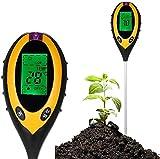 Outils de Jardinage 4 en 1 vignoble Testeur de Sol PH, lumière et humidité Acidité Testeur de Sol LCD Affichage pour Fleurs/Herbe/Jardin/Ferme/pelouse/d'intérieur/d'extérieur Outils Manuel