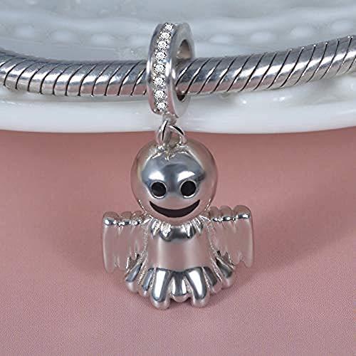 Charm Anhänger,925 Sterling Silber Cute Ghost Anhänger Perlen Charms Passen Armband Für Frauen Halloween Party Schmuck Geschenk